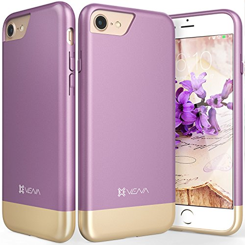 iPhone 8 Case, iPhone 7 Case, Vena [iSlide][Two-Tone] Dock-Friendly Slim Fit Hard Case Cover for Apple iPhone 8 / iPhone 7 (4.7