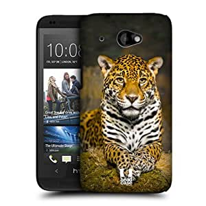 Head Case Designs Adult Female Jaguar Famous Animals Protective Snap-on Hard Back Case Cover for HTC Desire 601 LTE 601 Dual SIM by runtopwell