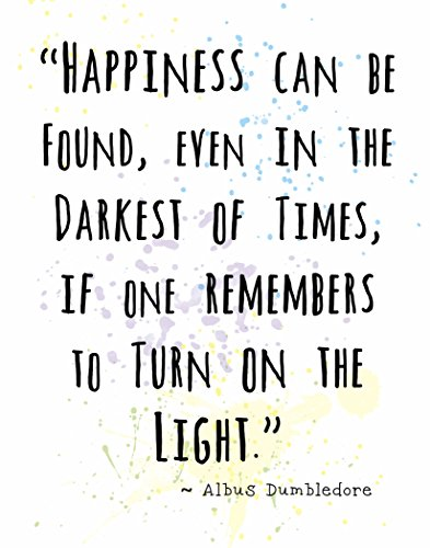 Wall Art Print by ArtDash ~ Albus Dumbledore Inspirational Quotes: 8 ?10, 'Happiness.'