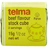 Telma Stock Cubes, Beef Flavor, 3 Count (Pack of 12)