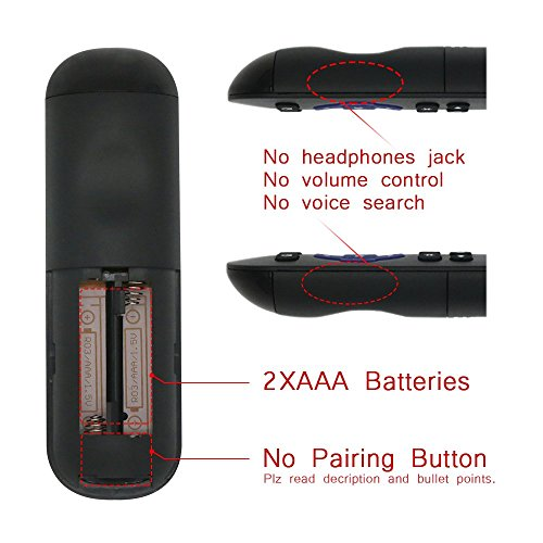 Gvirtue Replacement Lost Remote Control Compatible with Roku 1, Roku 2,  Roku 3, Roku 4, (HD, LT, XS, XD), Roku Express, Roku Premiere, Roku Ultra