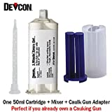 Devcon 1-Minute Epoxy (14277) - Fast-Setting General Purpose Adhesive (50ml/1.7oz) Caulk Gun Adapter Kit