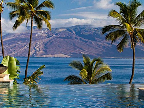 four-seasons-hotel-wailea-maui-hawaii-art-print-on-canvas-24x16-inches-unframed