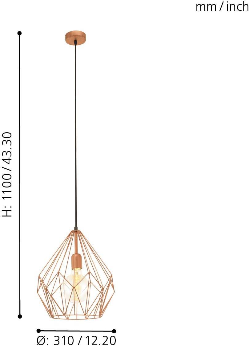 Suspension Trend 5 D31 cm Cuivre Eglo Vintage