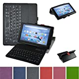 Fire HD 8 6th Generation 2016 Bluetooth Keyboard Case,Mama Mouth Slim Stand PU Leather Cover with Romovable Bluetooth Keyboard for 8'' All-New Amazon Fire HD 8 6th Generation 2016 Tablet,Black