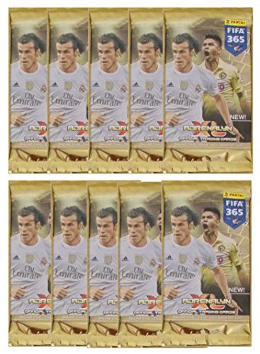 2015 / 2016 Panini TOP TEAMS FIFA 365 Adrenalyn XL Soccer Cards. 10 9-Card Packs (90 Cards Total). Do Not Confuse with 6 Cards/Pack Also Being Sold on Amazon!.