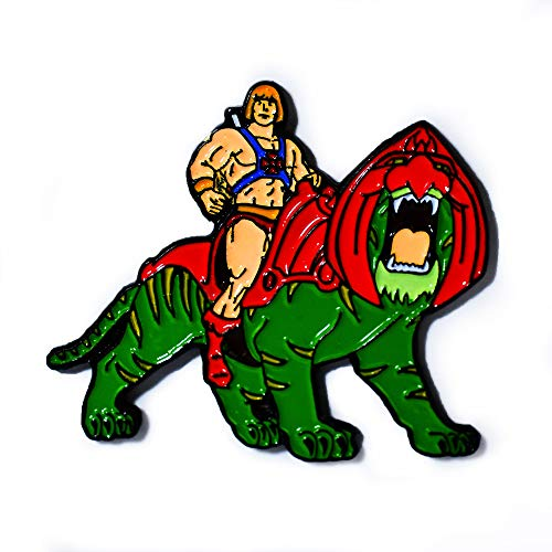 He-Man Battle Cat Masters of The Universe Collectible Pendant Lapel Hat Pin