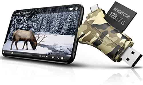SD Card Reader Trail Camera Viewer - MOSPRO Game Camera Viewer to View Hunting Photos & Videos or Any Wildlife Game Cam On Smart Phones, Tablets & Pc, Camouflage