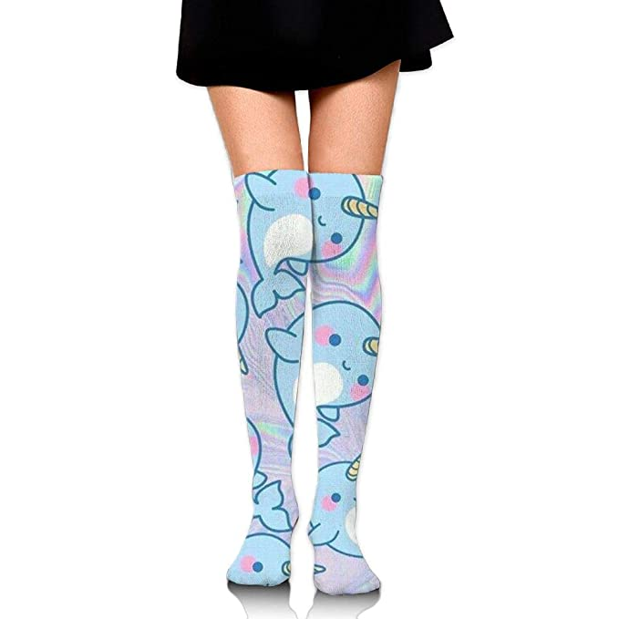 8311fbae1d3bc Amazon.com: Narwhal Humor Custom Sport Socks Knee High Socks For ...
