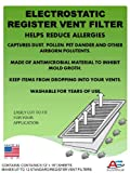 Best Air Vent Filters - Washable Electrostatic Register Vent Air & Dust Filters Review