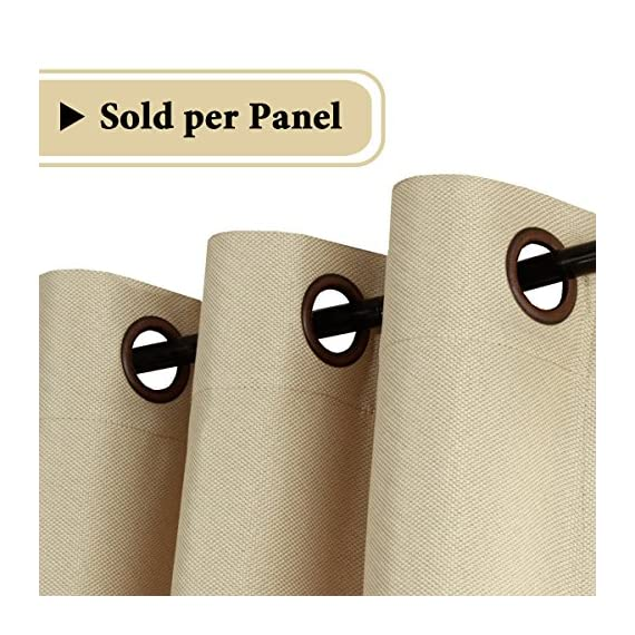 """H.VERSAILTEX Room Darkening Linen Curtain for Sliding Door (100"""" W x 96"""" L) Extra Wide Primitive Burlap Textured Linen Room Divider Curtain for Living Room/Patio (8ft Tall by 8.5ft Wide, Beige) - STANDARD SIZE: Sold per single panel, measures: 100 inch width by 96 inch length. Each panel has 16 antique copper grommets (rim of grommet is 2.4"""", while inner is 1.6""""), can be hung from a basic or decorative curtain rod ELEGANT BURLAP QUALITY: This classic wide curtain is made of rich faux linen fabric with natural blackout features, thick and heavy duty make the draperies more durable and long lasting, burlap effect will bring more vintage and graceful look to your window and room MULTIPLE FUNCTIONS: This extra wider panel can block out sunlight to control the light and balance the temperature in your rooms, high performance on thermal insulated, room darkening, energy efficient, noise reducing and privacy protecting - living-room-soft-furnishings, living-room, draperies-curtains-shades - 512niHxIYyL. SS570  -"""