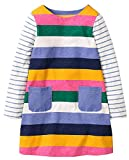 Fiream Toddler Girls Cotton Longsleeve Casual Dresses Applique Cartoon