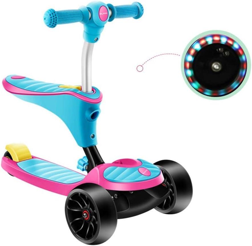 スクーターを蹴る子供たち スクーター、ヨーヨー自転車、子供たちは三輪車に乗ることができます (色 : ピンク) ピンク