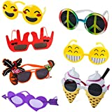 Tigerdoe Funny Sunglasses – 7 Pairs - Photo Booth Sunglasses – Party Sunglasses – Costume Sunglasses - Summer Party Favors