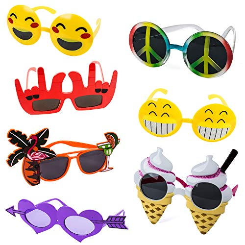 Tigerdoe Funny Sunglasses - 7 Pairs - Photo Booth Sunglasses - Party Sunglasses - Costume Sunglasses - Summer Party -