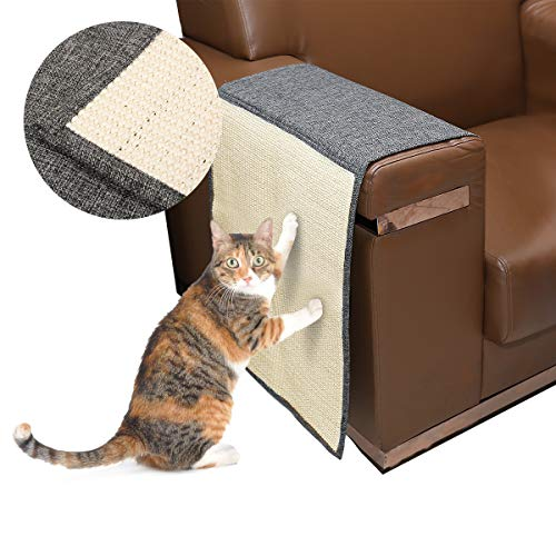 Docamor Cat Scratching Mat Sisal Sofa Shield Pet Furniture Cover Washable and Durable Cat Scratcher Pad Cover to Prevent Furniture Scratch - Sofa Scratcher