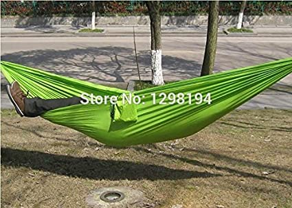 Imported and New Portable Nylon Parachute Double Hammock Garden Outdoor Camping Travel Furniture Survival Hammock Swing Sleeping Bed