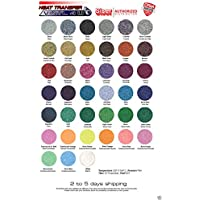 Siser GLITTER Heat Transfer Vinyl 15 x 1 Yard of each color (White, Silver, Gold, Red, Purple, Blue, Sapphire)