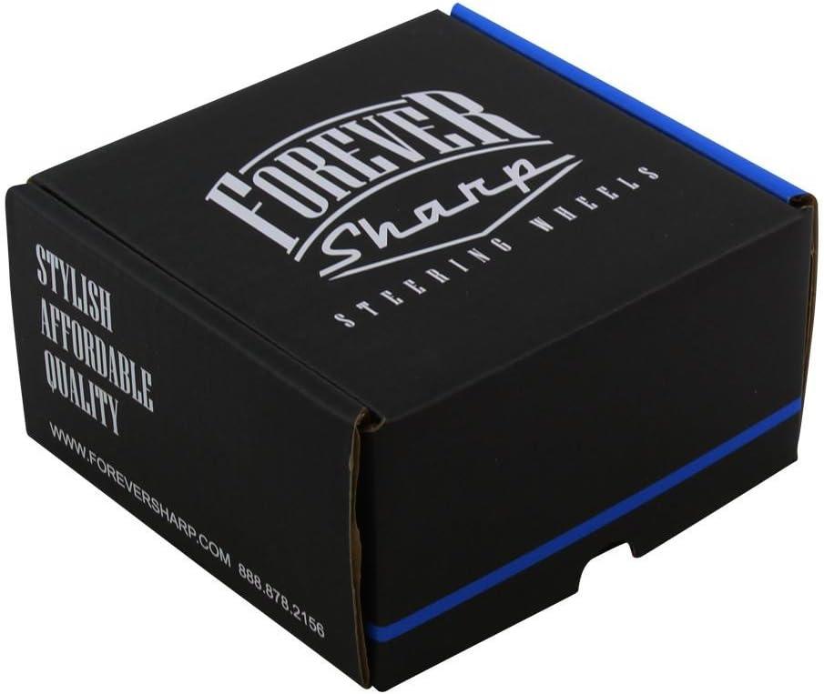ForeverSharp Black FST 6-Hole Horn Button for Aftermarket Steering Wheels