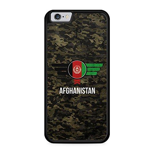 Afghanistan Camouflage mit Schriftzug - Hülle für iPhone 6 Plus & 6s Plus SILIKON Handyhülle Case Cover Schutzhülle - Bedruckte Flagge Flag Military Militär