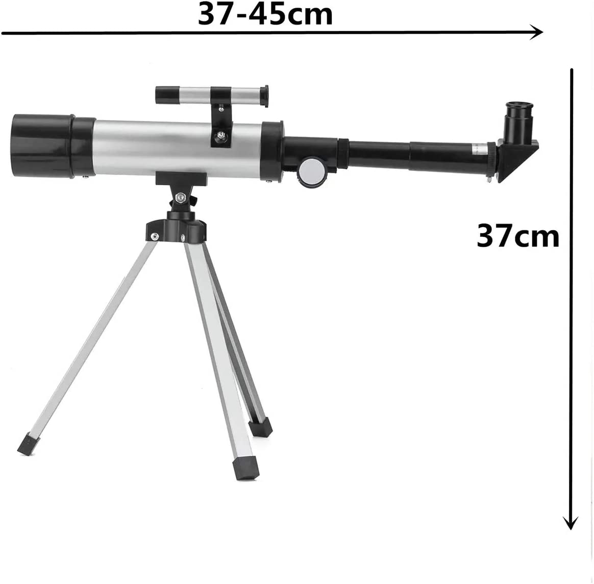 MDYYD Telescope 360x50mm Astronomical Telescope Refractor Monocular Spotting Scope with Tripod Refracting Telescope Color : Silver, Size : 39.5x21.5x8.5cm
