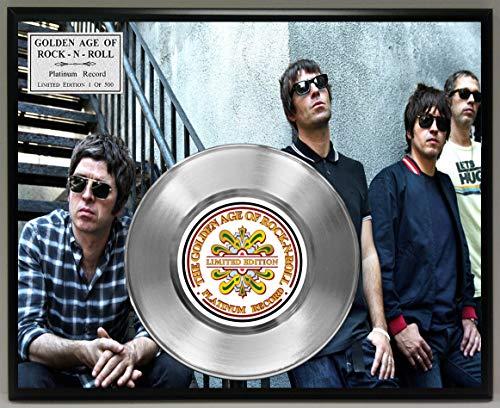 G.A.R.R. Oasis Platinum Record Poster Art Limited Edition Commemorative Music Memorabilia Display Plaque