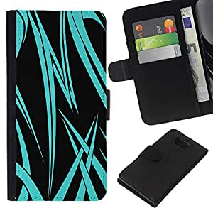 EJOY---La carpeta del tirón la caja de cuero de alta calidad de la PU Caso protector / Samsung ALPHA G850 / --Neon Blue Tribal