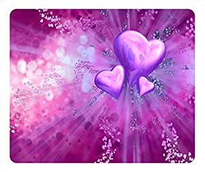 Customized Design Beloved Rectangular Mouse Pad Purple Loving Heart by icecream design