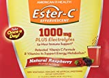 American Health Ester-C 1000 Mg Effervescent Powder Packets, Raspberry, 21 Count For Sale