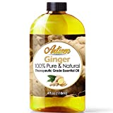 Artizen Ginger Essential Oil (100% Pure & Natural - Undiluted) Therapeutic Grade - Huge 4oz Bottle - Perfect for Aromatherapy, Relaxation, Skin Therapy