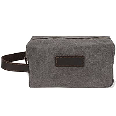 Aiderly Mens Toiletry Bag For Boys With Strap Canvas Shaving Bag