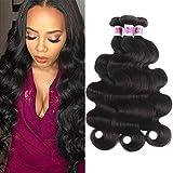 JiSheng Human Hair Body Wave 3 Bundles 100 Unprocessed Brazilian Virgin Human Hair Weave Extensions Natural Color 12 12 14inch Review