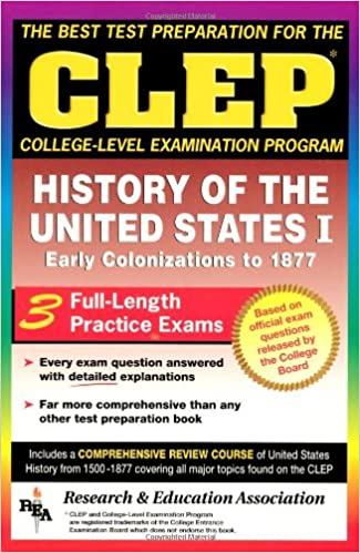 Amazon com: CLEP History of the United States I (CLEP Test