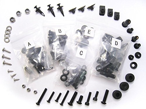 Moto-777 Complete Black Bolt Kit Body Screws for Kawasaki Ninja 650R ER-6F ER-6N EX 650 06 07 08