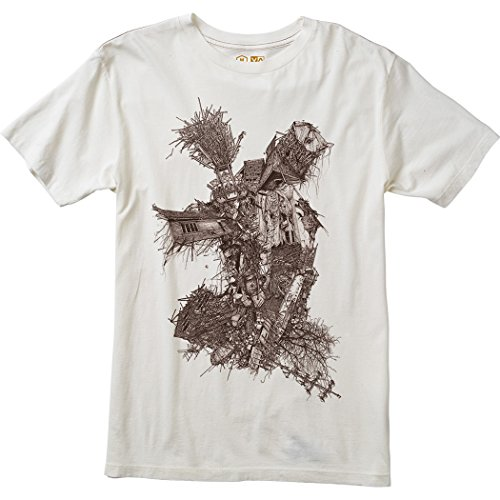 RVCA Men's Eye Socket Tee Small Vintage White