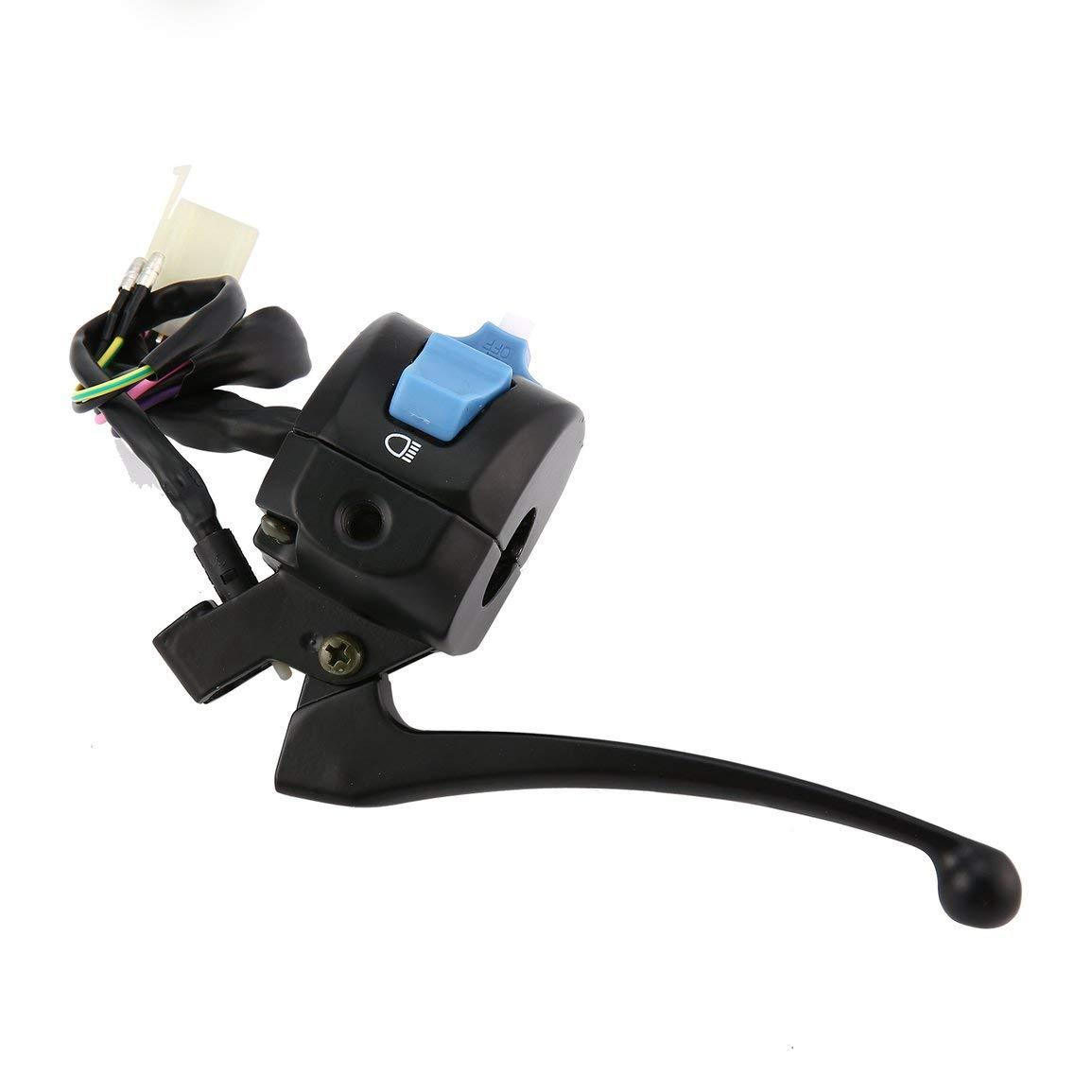 Universal Moto Switchs Noir frein gauche Levier de commande Interrupteur Fit pour scooter 50cc GY6 150 v/élomoteur