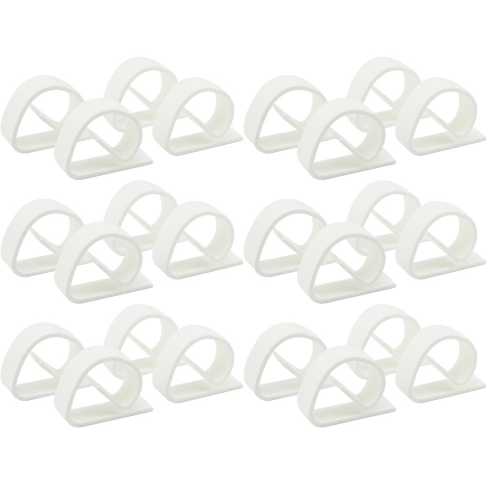 COM-FOUR® unbreakable plastic table cloth clamps in white, made in Germany 16 Stück