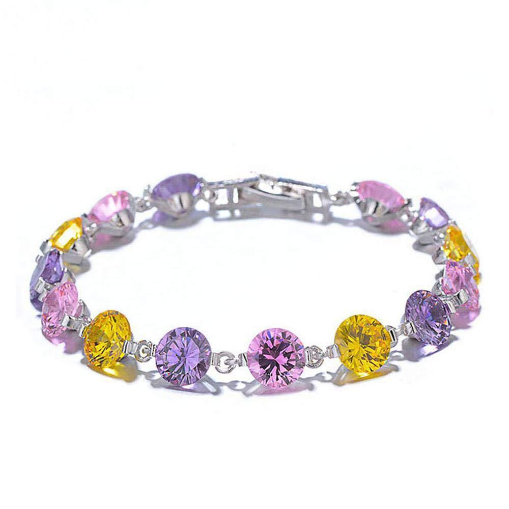 【超安い】 Weiduoliカラフルなジルコンのブレスレットの女性のミニマリストクリスタルフラッシュダイヤモンドブレスレット B07LD93QPH B07LD93QPH, テッタチョウ:9b526aed --- a0267596.xsph.ru