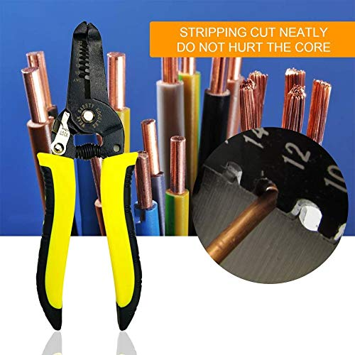 1 piece 7 inch Professional Wire Stripping Cutter Portable Stripper Crimper Pliers Multi-function Cable Wire Crimping Manual Tool NEW