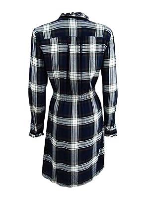 Tommy Hilfiger Womens Woven Plaid Shirtdress