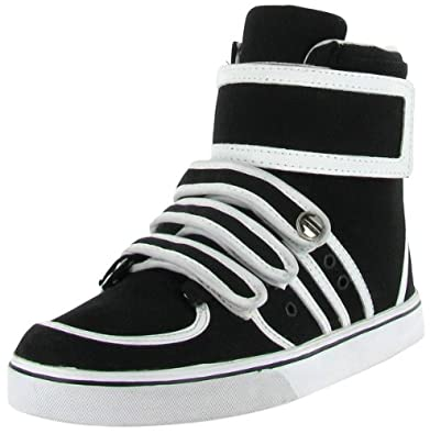 99e25e501aed Amazon.com | Radii Apex Mens Gray Leather High Top Lace Up Sneakers ...