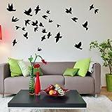 Birds Flying Pack - Cut & Place Wall Stickers - Art Vinyl Decal Sticker