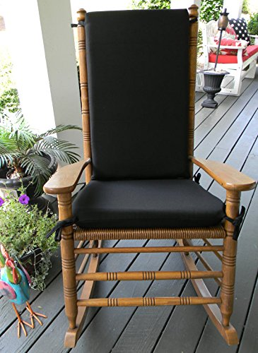 Indoor   Outdoor Solid Color Rocking Chair 2 Pc Foam Cushion Set   Fits  Cracker Barrel Rocker   Choose Color  Black Outdoor Rocker Cushions  Amazon com of Rocking Chair Pads Outdoor