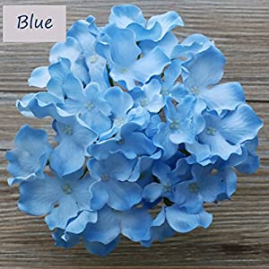 Lily Garden Silk Hydrangea Heads Artificial Flowers (12, Blue) 33