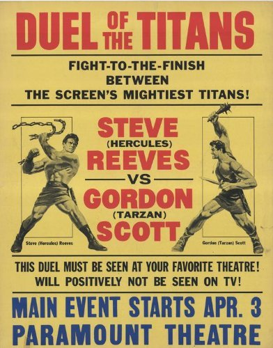 Duel of the Titans POSTER Movie (27 x 40 Inches - 69cm x 102cm) (1963) (Style B) (Steve Volpe)