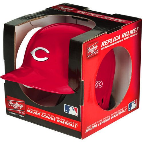 Cincinnati Reds Rawlings Mini Baseball Batting Helmet - with display stand