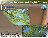 Forest Canopy View - 2ft x 4ft Drop Ceiling Fluorescent Decorative Ceiling Light Cover Skylight Film