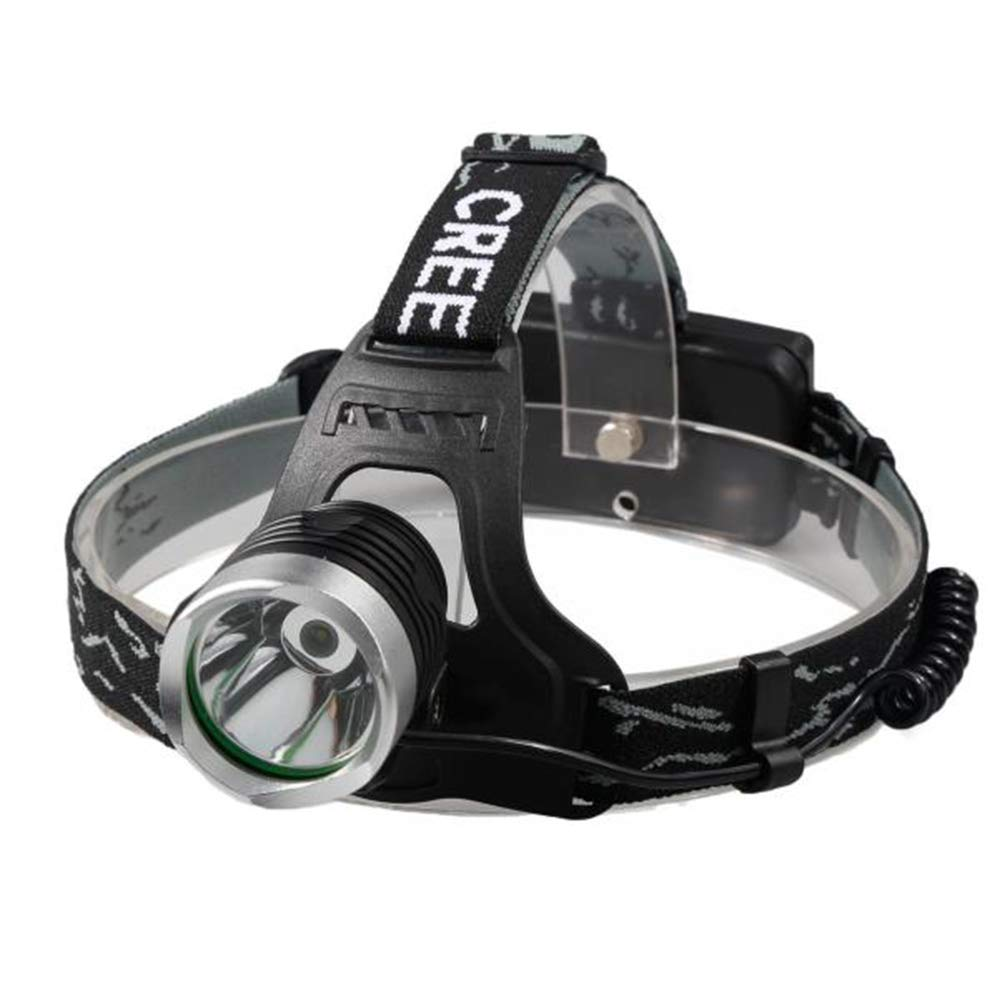Lebeauty XM-L T6 LED Focus Headlight Head Lamp Zoomable + 2x18650 +Charger Suitable for Self Safety Hunting Cycling Climbing Camping Travelling and Outdoor Activities Black 85 x 53 x 37mm