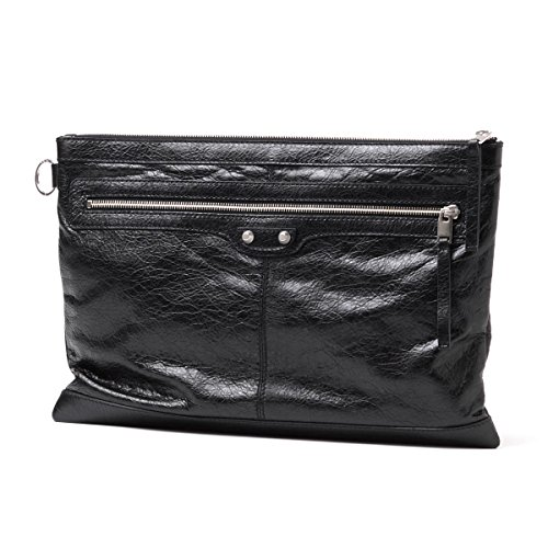 BALENCIAGA Leather Oversized Clutch Bag 273023