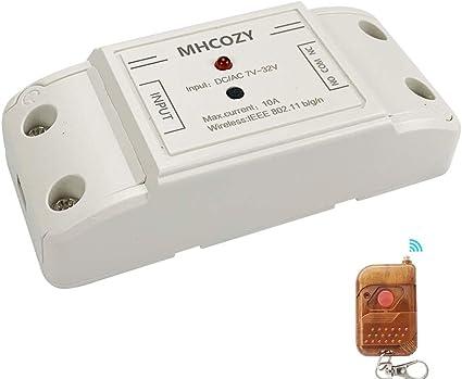 Einschaltzeit von 0,5 Sekunden bis 1 Stunde MHCOZY aktualisiertes WiFi-Smart-Schalter DIY-WiFi-Garagentor/öffner 100 zur Zugangskontrolle selbstsicherndes Relais-Modul